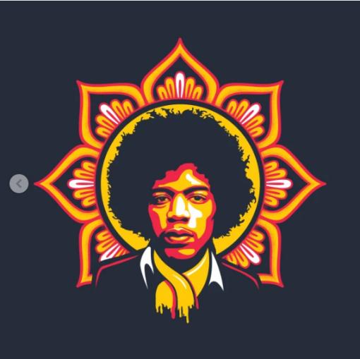 Jim Flower T-Shirt black design