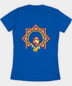Jim Flower T-Shirt royal blue for women