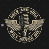 Rock and Roll - Will Never Die T-Shirt black design