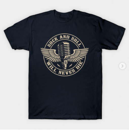 Rock and Roll - Will Never Die T-Shirt navy for men