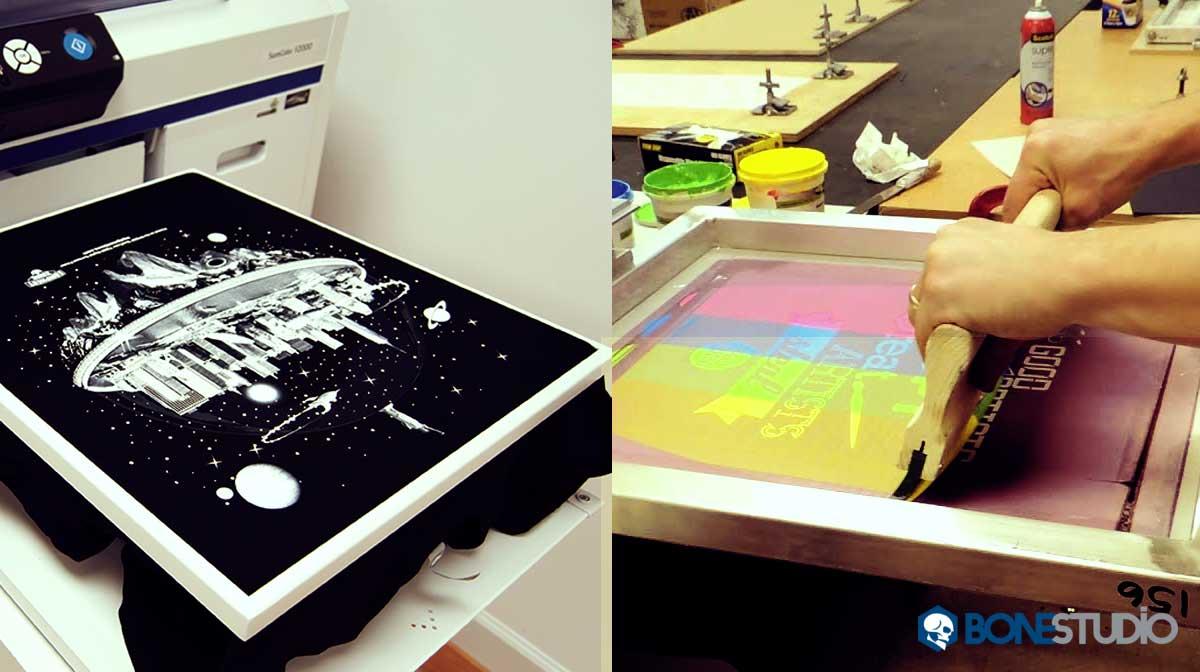 Screen Printing Vs DTG Printing