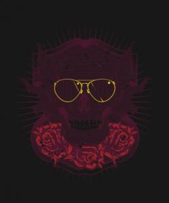 Skull With Sunglasses T-Shirt black design