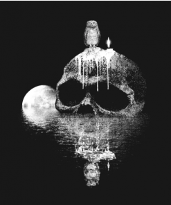 skull rock T-Shirt black design
