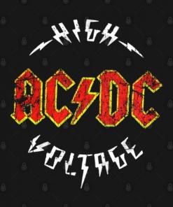 ACDC High Voltage T-Shirt black design