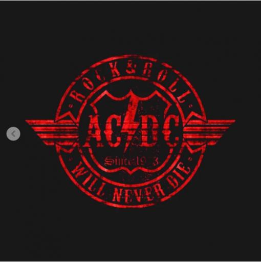 Acdc red circle T-Shirt black design