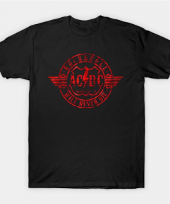 Acdc red circle T-Shirt black for men