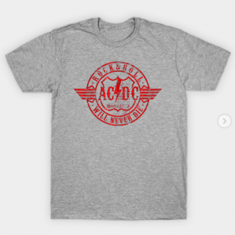 Acdc red circle T-Shirt heather for men
