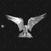 Angel Bird Black and White T-Shirt black design