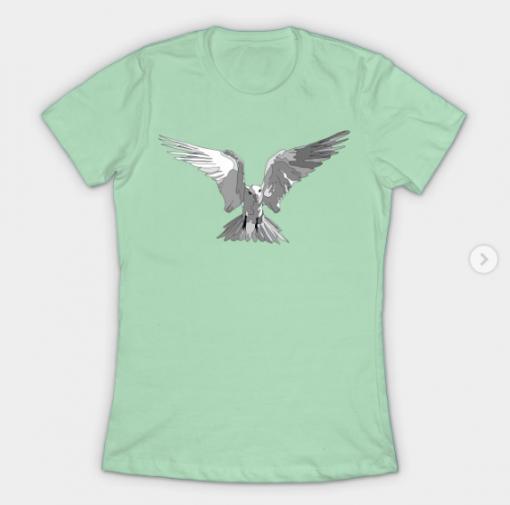 Angel Bird Black and White T-Shirt black for men