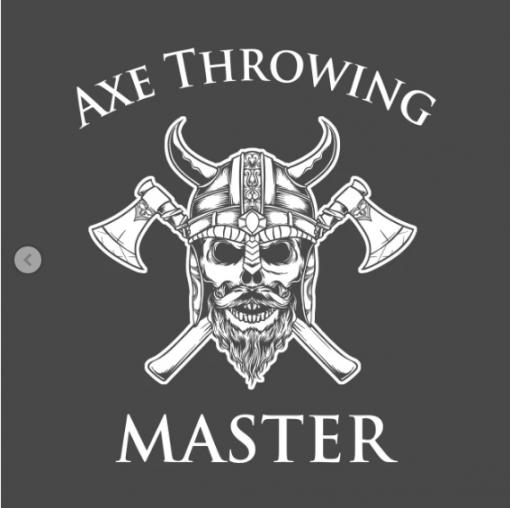 Axe Throwing Master black design