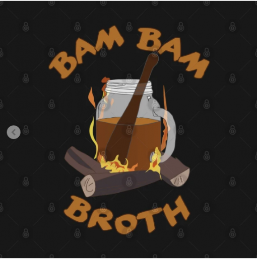 Bam Bam Broth T-Shirt black design