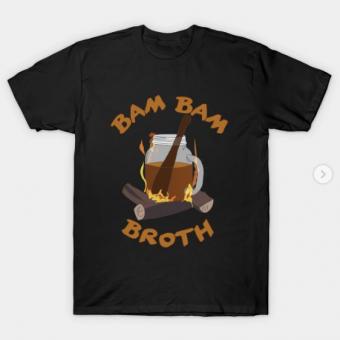 Bam Bam Broth T-Shirt black for men