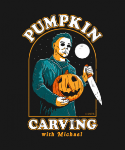 Carving With Michael T-Shirt black design