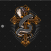 Cross with Snape T-Shirt black design