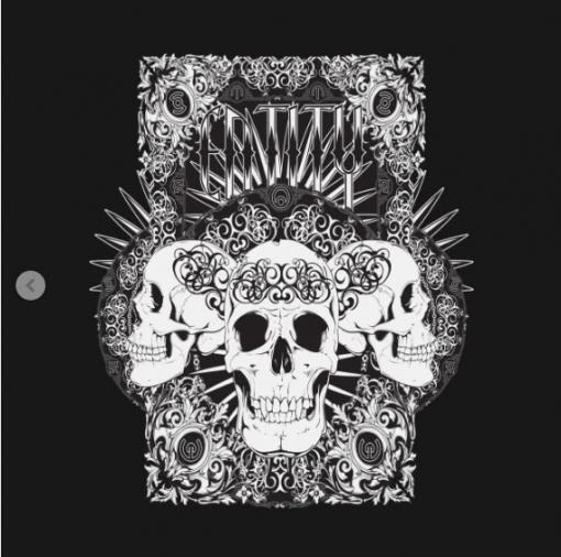Entity Skulls T-Shirt black design