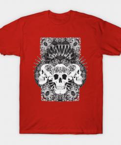 Entity Skulls T-Shirt red for men