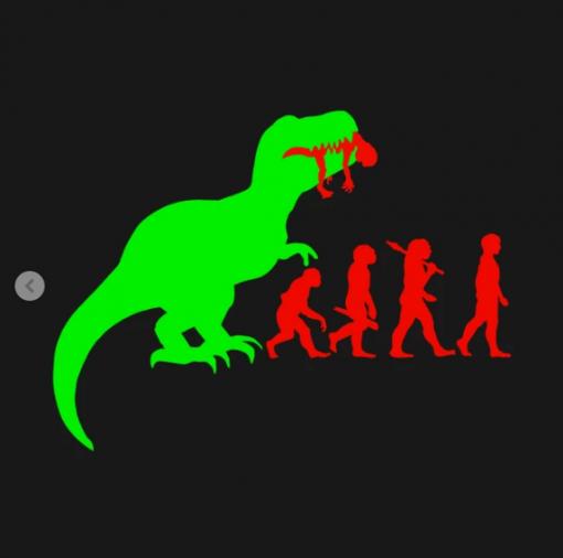 Evolution Dinosaur T-Shirt black design