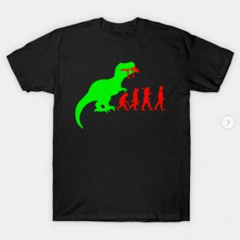 Evolution Dinosaur T-Shirt black for men