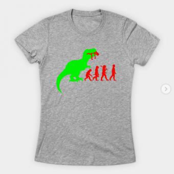 Evolution Dinosaur T-Shirt heather for women