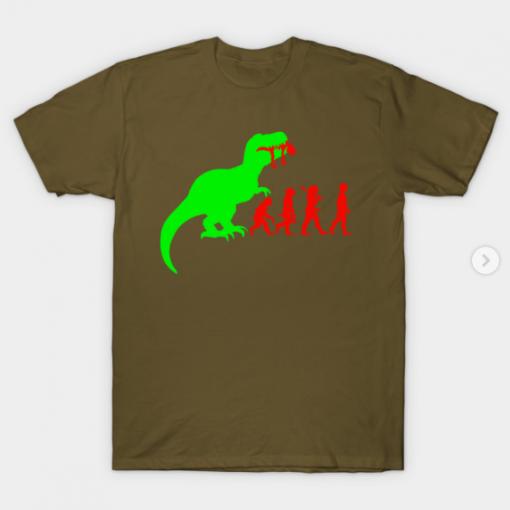 Evolution Dinosaur T-Shirt militery green for men