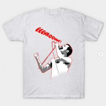 Freddie Mercury T-Shirt white for men