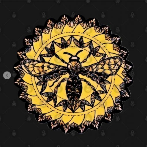 Gothic Moth Dark Black Magic Abstract Mandala Art T-Shirt black design