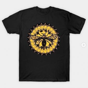 Gothic Moth Dark Black Magic Abstract Mandala Art T-Shirt black for men