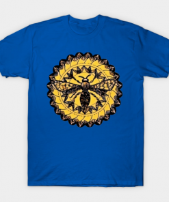 Gothic Moth Dark Black Magic Abstract Mandala Art T-Shirt royal blue for men