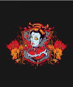 Hearts of Death Dragon Queen T-Shirt black design