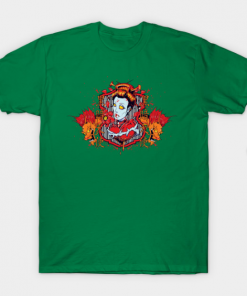 Hearts of Death Dragon Queen T-Shirt kelly for men