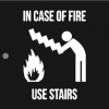 In Cafe Of Fire Use Stairs T-Shirt black design
