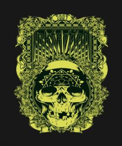 Inkfection Skull Bandana T-Shirt black design