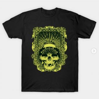 Inkfection Skull Bandana T-Shirt black for men