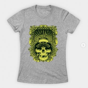 Inkfection Skull Bandana T-Shirt heather for women