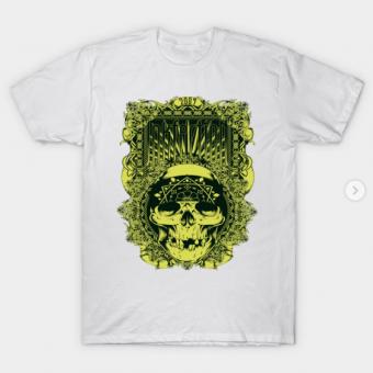 Inkfection Skull Bandana T-Shirt white for men