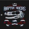 Jurassic Riders T-Shirt black design