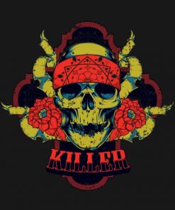 Killer Skull T-Shirt black design