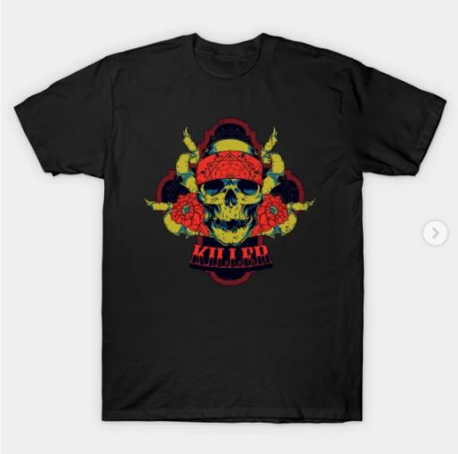 Killer Skull T-Shirt black for men