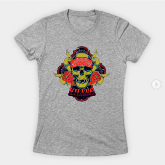 Killer Skull T-Shirt heather for women
