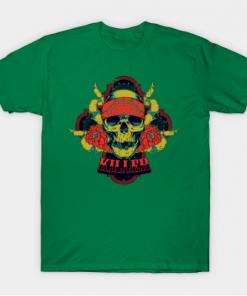 Killer Skull T-Shirt kelly for men