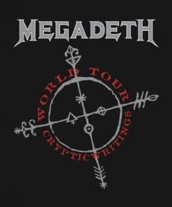 Megadeth Cryptic Writings T-Shirt black design
