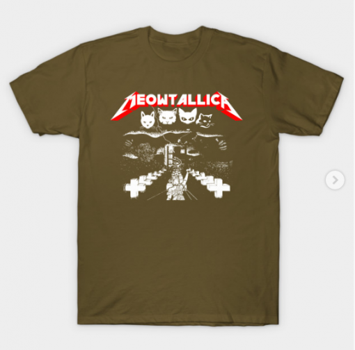 Meowtallica T-Shirt military green for men