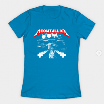 Meowtallica T-Shirt teal for women