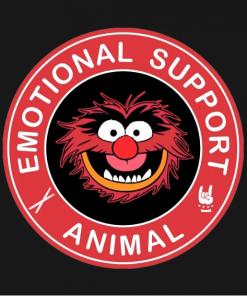 Muppets Emotional Support Animal T-Shirt black design