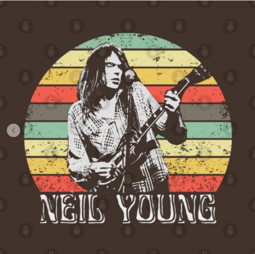 Neil Young T-Shirt brown design