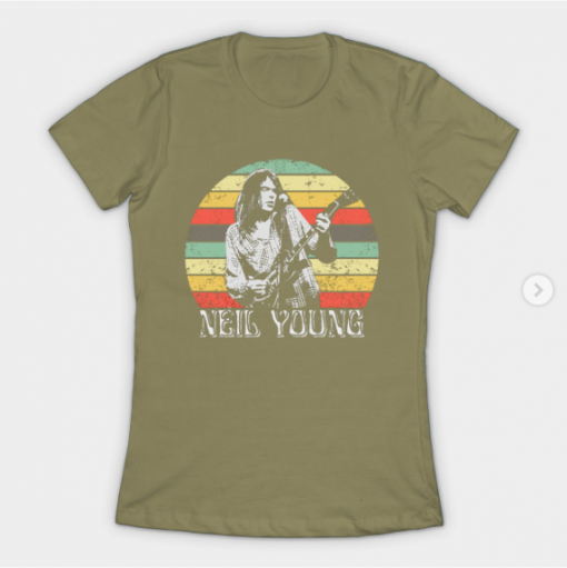 Neil Young T-Shirt light olive for women
