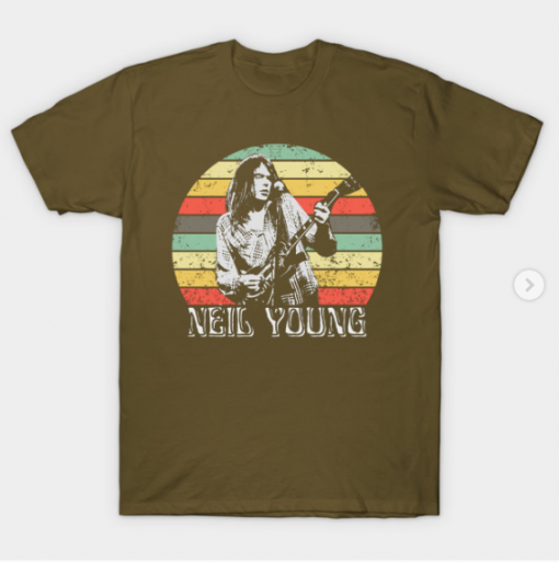 Neil Young T-Shirt military green for men