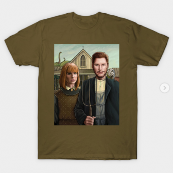 Owen and Claire T-Shirt military green for men