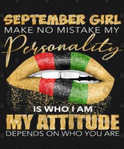 September Girl T-Shirt black design