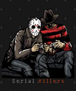Serial Killers T-Shirt black design